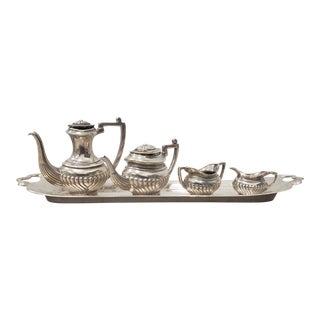 Miniature Sterling Coffee & Tea Set With British Hallmarks For Sale