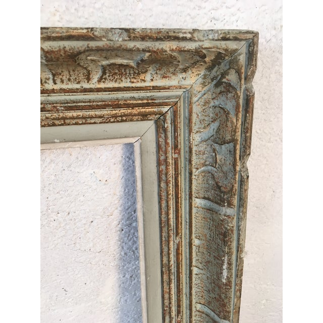 Vintage Blue Painted Picture Frame For Sale In Charleston - Image 6 of 7