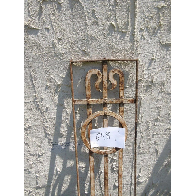 Antique Victorian Iron Gate or Garden Fence For Sale - Image 4 of 5