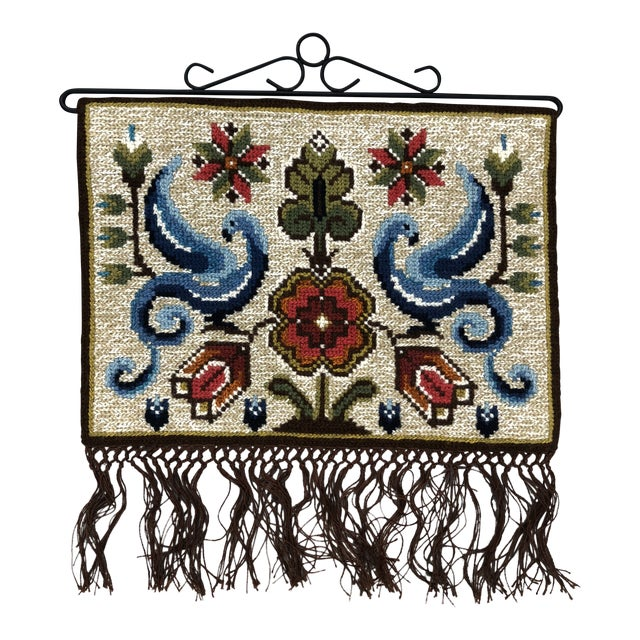Vintage Swedish/Scandinavian Wall Hanging/Tapestry For Sale