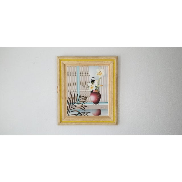 80s Reibel Postmodern Still Life Painting For Sale - Image 13 of 13