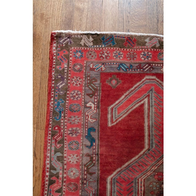 """1940s Vintage Nomadic Persian Rug-4'8'x9'7"""" For Sale In Chicago - Image 6 of 13"""