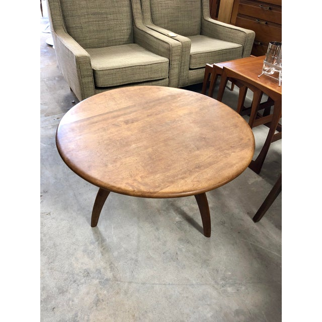 1950s Mid-Century Modern Heywood Wakefield Lazy Susan Spider Leg Coffee Table For Sale In Charleston - Image 6 of 6