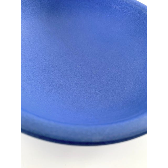 Blue Bright Blue Ceramic Bowl For Sale - Image 8 of 11