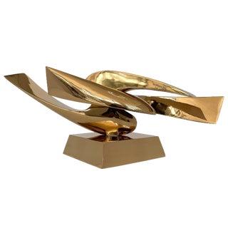 Leonardo Nierman Abstract Bronze Sculpture For Sale