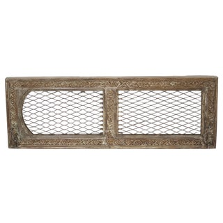 Jaisalmer Vintage Carved Mirror With Grill Work For Sale