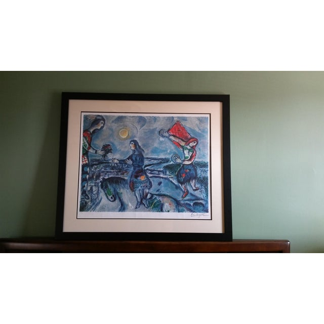 """Vintage Marc Chagall Reproduction """"Lovers Over Paris"""" Print For Sale - Image 10 of 11"""