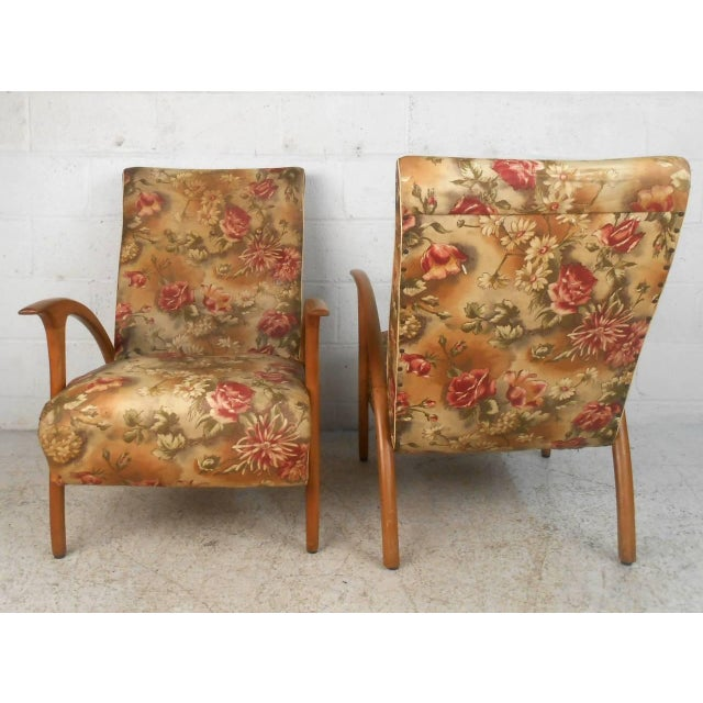 Paolo Buffa Pair of Paolo Buffa Style Armchairs For Sale - Image 4 of 9