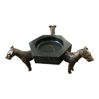 Three Dog Sculptural Wine Coaster
