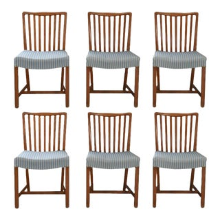 Cuban Mahogany Dining Chairs by Sondergaard Mobler, 1940s - Set of 6 For Sale