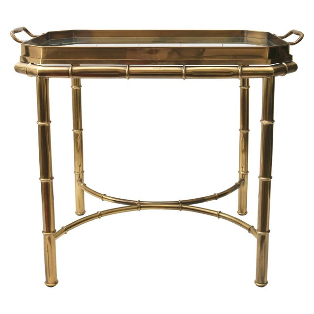 Vintage Mastercraft Tray Table Faux Bamboo For Sale - Image 10 of 11