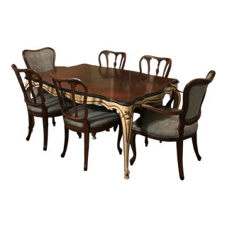 1950s Vintage Hand Painted Dining Set For Sale
