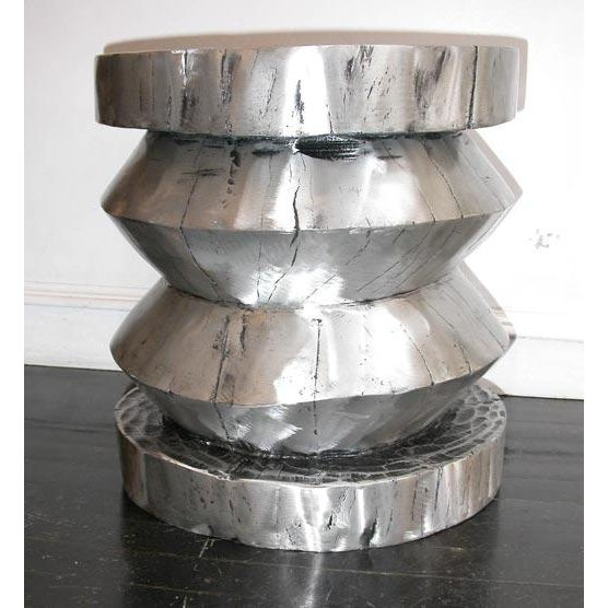 Cast Aluminum Stool / Table Also available in bronze and copper.