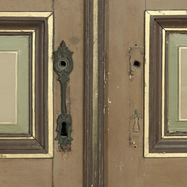Pair 19th Century French Hand Painted Paneled Interior Doors For Sale - Image 12 of 13