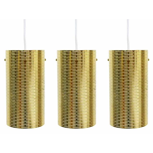Pierced Pendant Lights by Lightolier - Set of 3 - Image 1 of 10