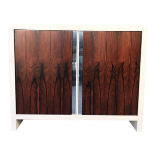 Mid-Century Modern Pair of Dresser Wrosewood Doors, After Glenn of California