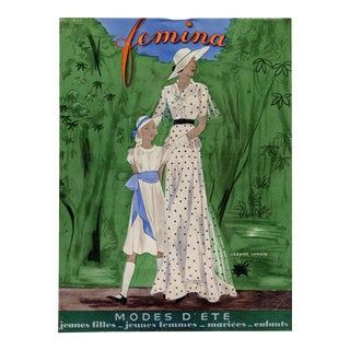 """""""Femina, May 1932"""" Original Vintage French Magazine Cover For Sale"""