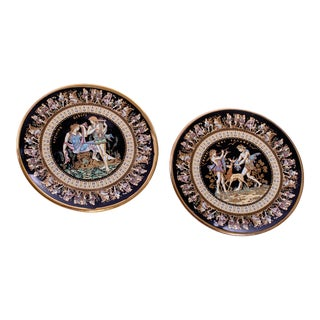 Pair of Grecian Decorative Trinket Plates For Sale