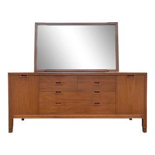 Mid Century John Stuart 14-Drawer Dresser with Mirror, From the Janus Collection For Sale