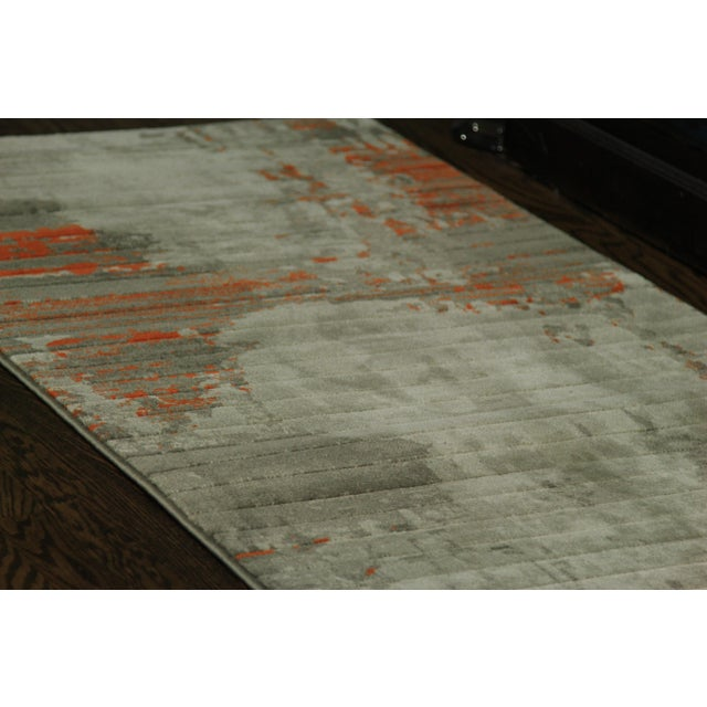 Contemporary Abstract Orange Rug - 2'8'' x 10' - Image 3 of 5