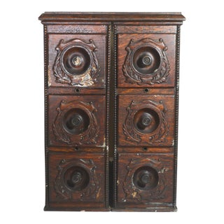 Antique 6 Drawer Sewing Cabinet Cubbies