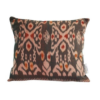 Gray Ikat Throw Pillow