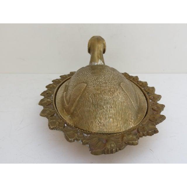 Mid-Century Brass Ram Vessel - Image 7 of 7
