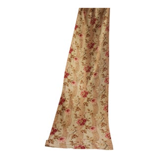 Antique 1890s French Belle Epoque Era Printed Cotton Floral Fabric For Sale