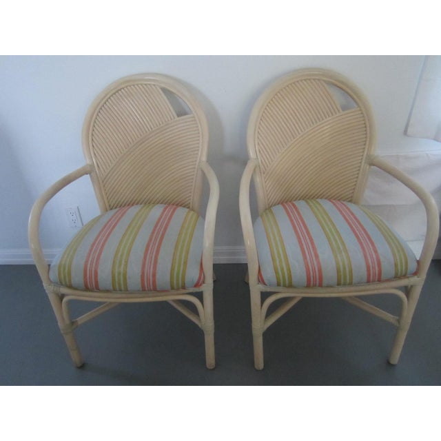 1970s McGuire Vintage Hollywood Regency Bamboo Dining Set For Sale - Image 5 of 13