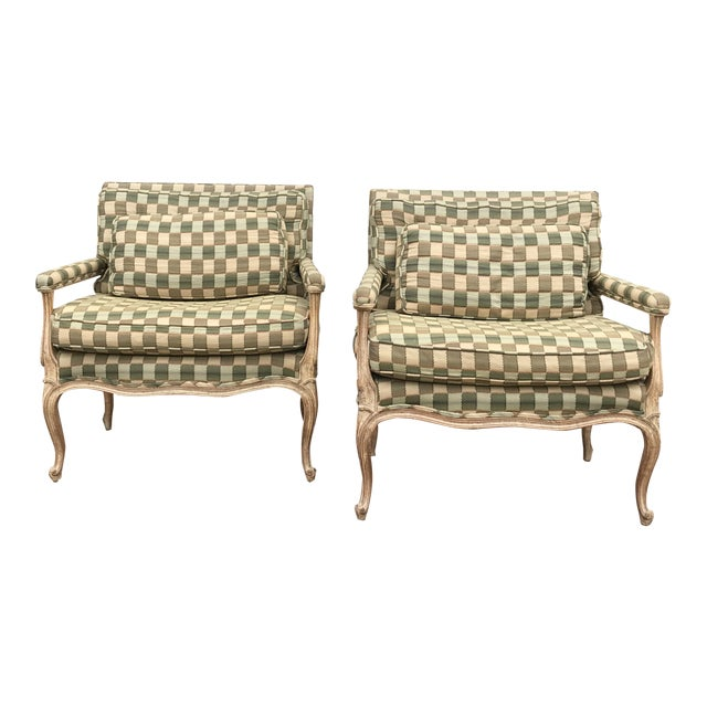 Vintage Bergere Side Chairs - a Pair For Sale