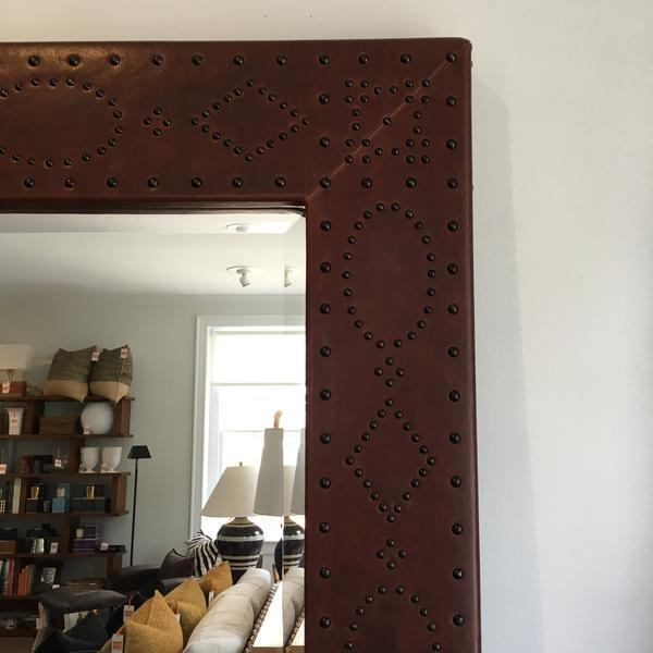 Contemporary Ralph Lauren Home Safari Mirror For Sale - Image 3 of 7