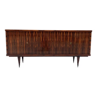1940s French Art Deco Macassar Ebony Sideboard/Credenza. For Sale