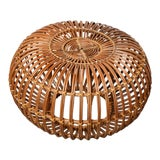 Image of Vintage Rattan Pouf by Franco Albini For Sale