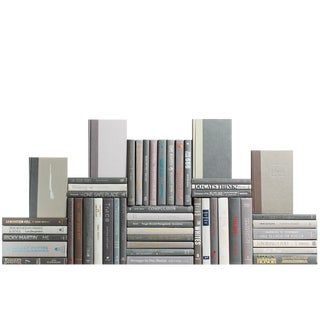 Modern Granite Book Wall : Set of Fifty Decorative Books For Sale