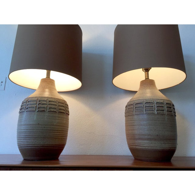 Contemporary Bob Kinzie Table Lamps - A Pair For Sale - Image 3 of 6