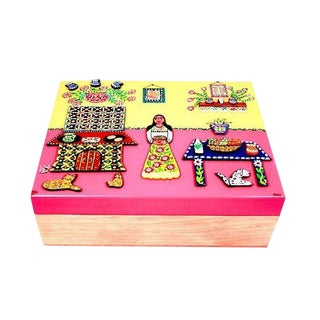 Handcrafted Spices Wooden Box For Sale