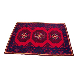 South Asian Baluch-Style Wool Rug For Sale