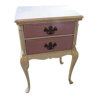 Shabby Queen Anne Nightstand For Sale