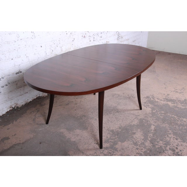 Harvey Probber Mid-Century Modern Saber Leg Rosewood Extension Dining Table, Newly Refinished For Sale - Image 9 of 13