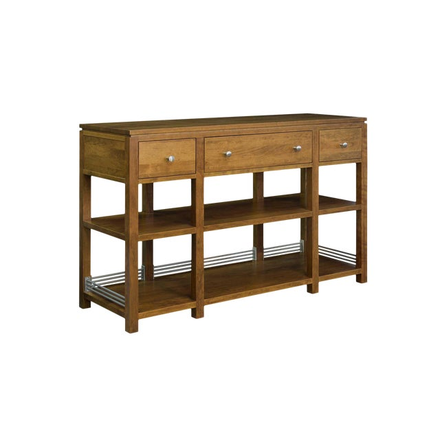 Arts and Crafts Sunset Hills Collection Borkholder Cherry Console Table For Sale