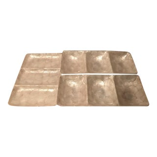 Mother of Pearl Rectangular Serving Tray - Three Available