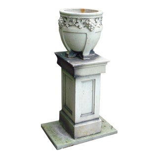 Stoneware Lefco Urn on Pedestal For Sale