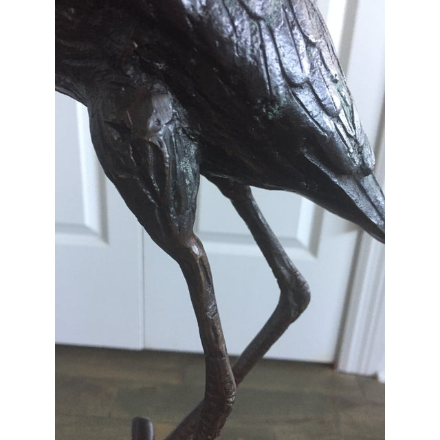 Early 20th Century Antique Bronze Heron Sculpture For Sale - Image 4 of 13