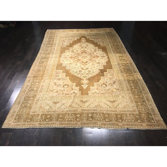 "Vintage Turkish Oushak Rug - 6'10"" x 11'7"" - Image 2 of 8"
