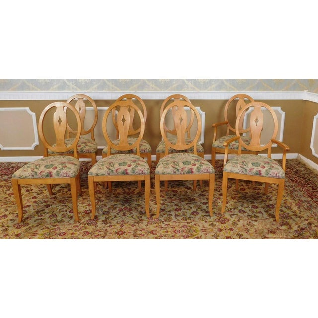 Ethan Allen Country Colors Wheat Dining Set - Image 6 of 11