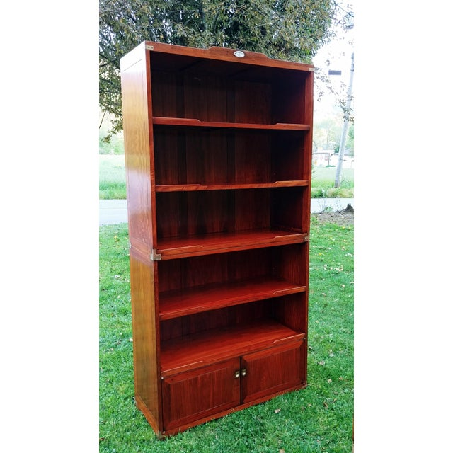 Items offered is a gorgeous Set of 2 Starbay Rosewood Marco Polo Book Shelves. Starby is a fine furniture manufacturer in...