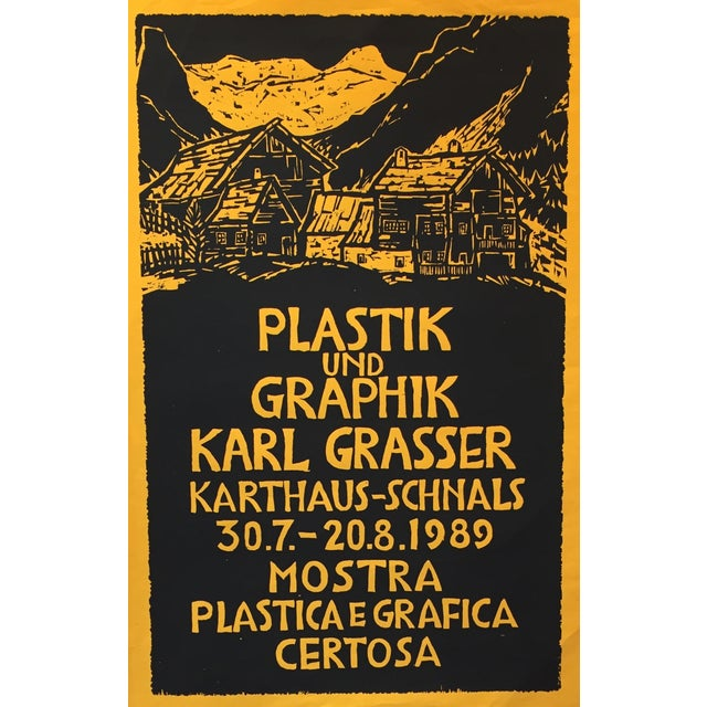 Date: 1989 Size: 18 x 27.5 Notes: Poster Artist: Grasser, Karl About The Poster: Karl Grasser, a contemporary German...