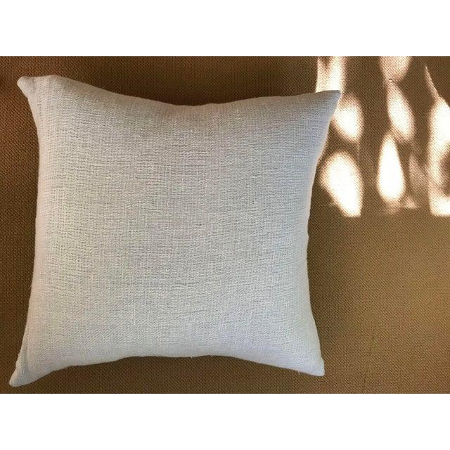 Pale Blue Cotton Pillows - a Pair - Image 4 of 5