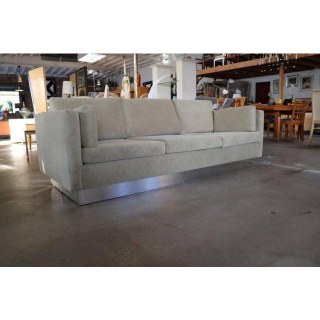 Mid-Century Modern Tuxedo Sofa in Milo Baughman Style For Sale - Image 3 of 6