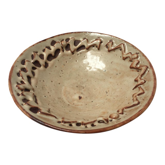 Handthrown Ivory Low Bowl For Sale